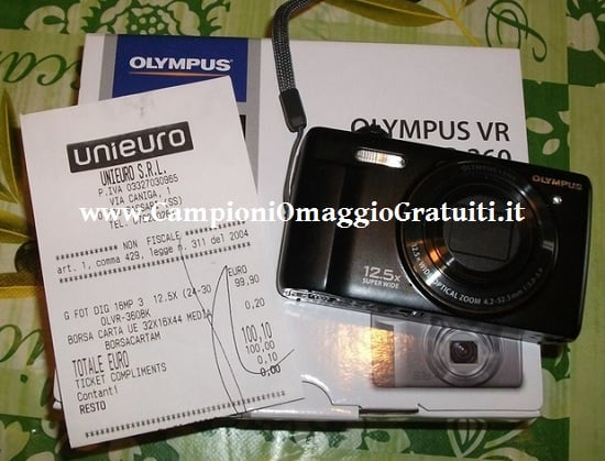 Fotocamera da 100 Euro GRATIS da Unieuro