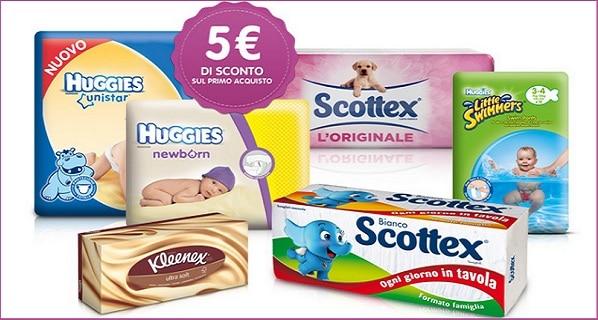 Buoni sconto 5 euro kimberly shop