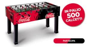Concorso Vinci un calcetto con Coca-Cola