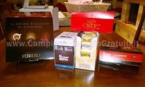 box-assaggio-di-Ferrero-Rocher-e-Pocket-Coffee-ricevuto