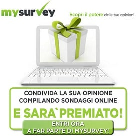 Iscrizione Sondaggi Retribuiti MySurvey
