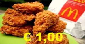 McDonald's Chicken Wings a 1 euro