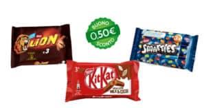 buoni sconto Smarties Lion KitKat